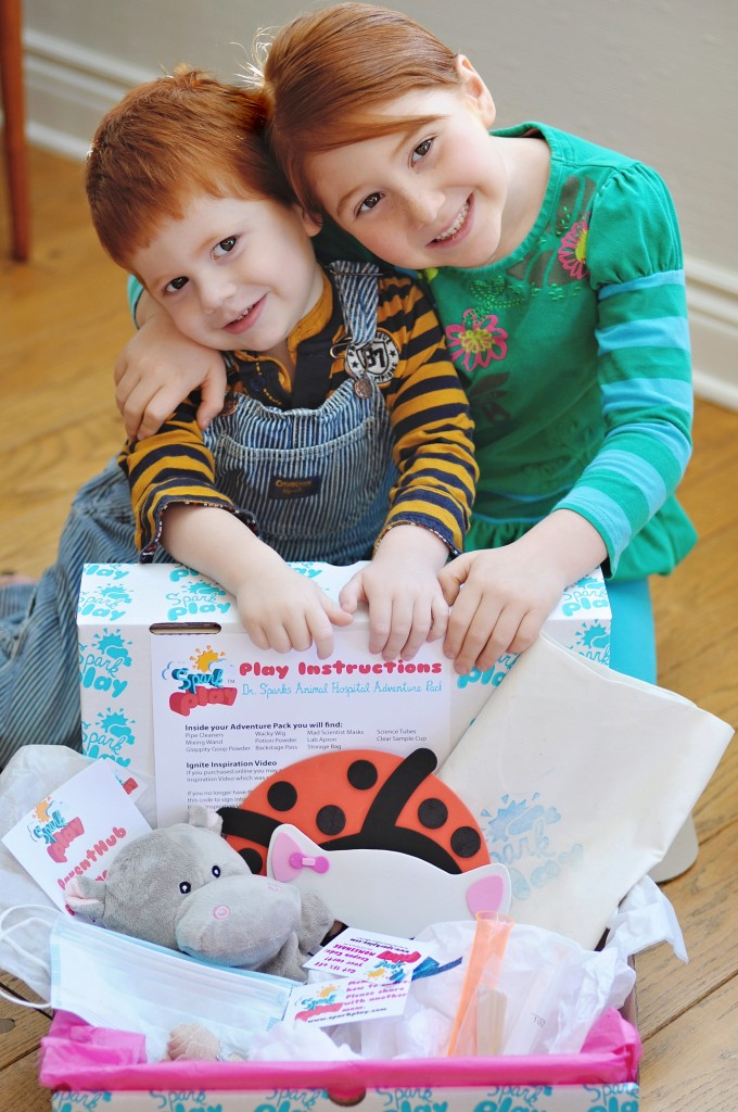 Children with Spark Play Box